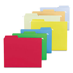 Smead - fastab hanging file folders, letter, assorted primary, 18/box, sold as 1 bx