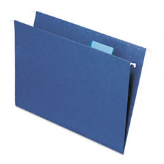Smead - hanging file folders, 1/5 tab, 11 point stock, letter, navy, 25/box, sold as 1 bx