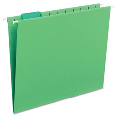 Smead - hanging file folders, 1/5 tab, 11 point stock, letter, bright green, 25/box, sold as 1 bx