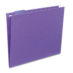 Smead - hanging file folders, 1/5 tab, 11 point stock, letter, purple, 25/box, sold as 1 bx