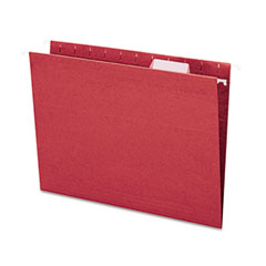 Smead - hanging file folders, 1/5 tab, 11 point stock, letter, maroon, 25/box, sold as 1 bx