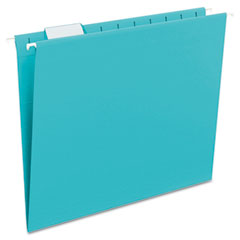 Smead - hanging file folders, 1/5 tab, 11 point stock, letter, teal, 25/box, sold as 1 bx
