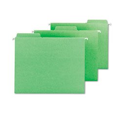 Smead - fastab hanging file folders, letter, green, 20/box, sold as 1 bx