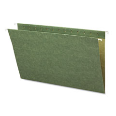 Smead - hanging file folders, untabbed, 11 point stock, legal, green, 25/box, sold as 1 bx