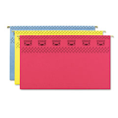 Smead - tuff hanging folder with easy slide tab, legal, assorted,15/box, sold as 1 bx