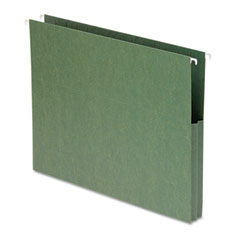 Smead - 1 3/4 inch hanging file pockets with sides, letter, standard green, 25/box, sold as 1 bx