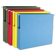 Smead - 3-inch capacity hanging file pockets, letter, assorted colors, 4/pack, sold as 1 pk