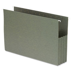 Smead - 3 1/2 inch hanging file pockets with sides, legal, standard green, 10/box, sold as 1 bx
