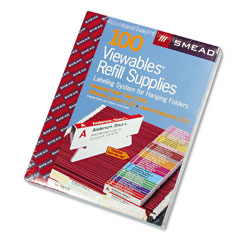 Smead - viewables color labeling system, pack refill, 3 1/2 inch, assorted, 100/pack, sold as 1 bx