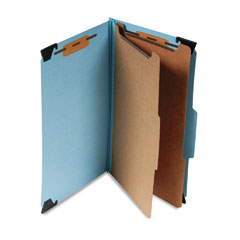 Smead - six section hanging classification folder, pressboard/kraft, legal, blue, sold as 1 ea