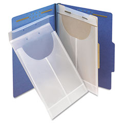 Smead - two-hole letter/legal expanding pockets, legal/letter, poly, clear, 24/box, sold as 1 bx