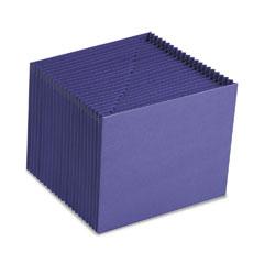 Smead - heavy-duty a-z open top expanding files, 21 pockets, letter, purple, sold as 1 ea