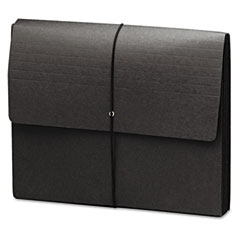 Smead - extra-wide five inch expansion wallets, 12 3/8 x 10, black, 10/box, sold as 1 bx