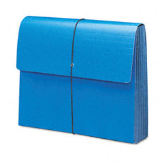 Smead - extra-wide 5 1/4 inch expansion wallets, 12 3/8 x 10, navy blue, sold as 1 ea
