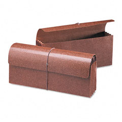 Smead - 3 1/2 inch expansion wallets, 12 x 5, leather-like redrope, 10/box, sold as 1 ea