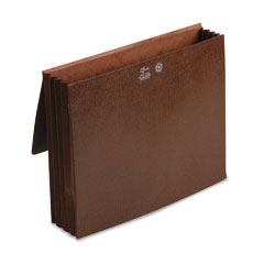 Smead - 3 1/2 inch expansion wallets with tyvek, letter, leather-like redrope, 10/box, sold as 1 ea
