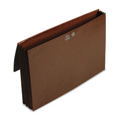 Smead 71456 3 1/2 Inch Expansion Wallets With Tyvek, Legal, Leather-Like Redrope