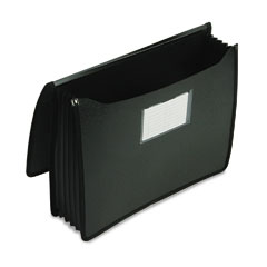 Smead - premium 5 1/4 inch expansion wallets, poly, letter, black, sold as 1 ea