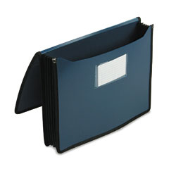 Smead - premium 5 1/4 inch expansion wallets, poly, letter, navy blue, sold as 1 ea