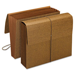 Smead - 5 1/4 inch expansion wallets with cord, six pockets, redrope, letter, 10/box, sold as 1 bx