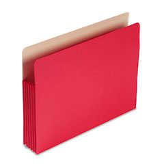 Smead - 5 1/4 inch expansion colored file pocket, straight tab, letter, red, 10/box, sold as 1 ea