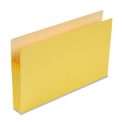 Smead - 3 1/2 inch expansion colored file pocket, straight tab, legal, yellow, 25/box, sold as 1 ea