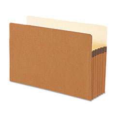 Smead - 5 1/4 inch expansion file pockets, straight tab, legal, manila/redrope, 10/box, sold as 1 bx