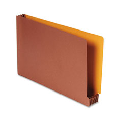 Smead - end tab file pockets, four-inch expansion, legal, redrope/goldenrod back, sold as 1 ea