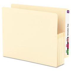 Smead - 3 1/2 inch expansion end tab file pockets, straight tab, letter, manila, 25/box, sold as 1 bx
