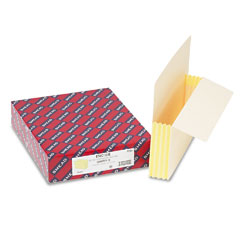 Smead - 3 1/2 inch expansion end tab file pockets with tyvek, letter, manila, 10/box, sold as 1 bx