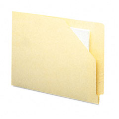 Smead - end tab file pockets, cut-away front corner, letter, 11 point manila, 100/box, sold as 1 bx