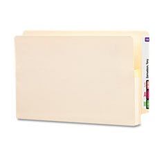 Smead - 1 3/4 inch expansion end tab file pockets, straight tab, legal, manila, 25/box, sold as 1 bx