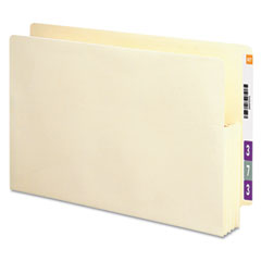 Smead - 3 1/2 inch expansion end tab file pockets, straight tab, legal, manila, 25/box, sold as 1 bx