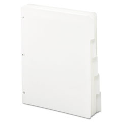 Smead - three-ring binder index divider, 5-tab, white, sold as 1 bx