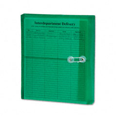 Smead 89523 Poly String & Button Booklet Envelope, 9 3/4 X 11 5/8 X 1 1/4, Green, 5/Pack