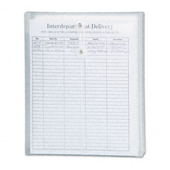 Smead - poly string & button envelope, 9 3/4 x 11 5/8 x 1 1/4, clear, 5/pack, sold as 1 pk