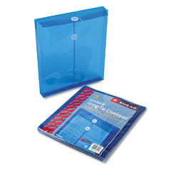 Smead 89542 Poly String & Button Envelope, 9 3/4 X 11 5/8 X 1 1/4, Blue, 5/Pack