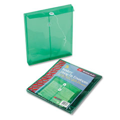 Smead - poly string & button envelope, 9 3/4 x 11 5/8 x 1 1/4, green, 5/pack, sold as 1 pk