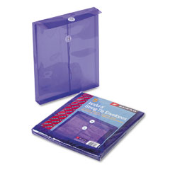 Smead 89544 Poly String & Button Envelope, 9 3/4 X 11 5/8 X 1 1/4, Purple, 5/Pack