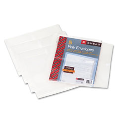 Smead - side-load envelopes, 1 1/4 inch expansion, jacket, letter, poly, clear, 5/pack, sold as 1 pk