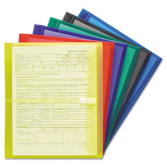 Smead - poly envelopes, 1 1/4 inch expansion, letter, six colors, 6/pack, sold as 1 pk