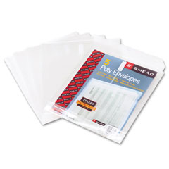 Smead - top-load envelopes, 1 1/4 inch expansion, jacket, letter, poly, clear, 5/pack, sold as 1 pk