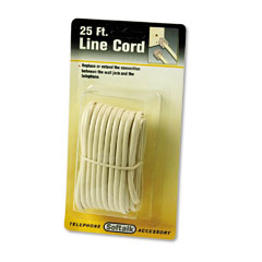 Softalk - telephone extension cord, plug/plug, 25 ft., ivory, sold as 1 ea