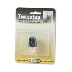 Softalk - twisstop rotating phone cord detangler, black, sold as 1 ea
