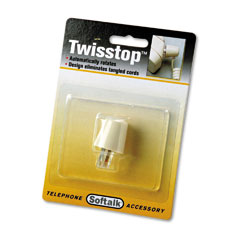 Softalk - twisstop rotating phone cord detangler, ivory, sold as 1 ea