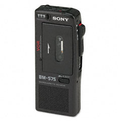Sony SONBM575A BM-575 Voice-Activated Microcassette Recorder