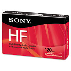 Sony SONC120HFR Audio Standard Cassette, Normal Bias/High Density, 120 Minutes (60 x 2)
