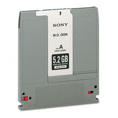 "Sony CWO5200 Optical Disk, Write Once 5.25"" (Worm) Disks, 5.2Gb, 2,048 Bytes/Sector"