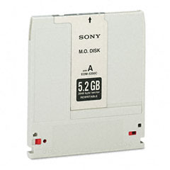 "Sony EDM5200 Magneto Optical Disk, 5.25"", 5.2Gb, 2,048 Bytes/Sector, Rewritable"