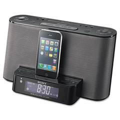 Sony SONICFCS10IPBLK AM/FM Clock Radio with iPod/iPhone Speaker Dock